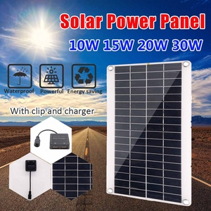 Solar Panel Dual USB Solar Panel Solar Cell DC 18V USB 5V Car Battery Charger RV Yacht Camping Solar Panel Charging Boat Charge