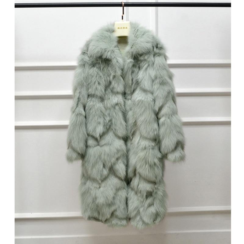 Aorice جديد الشتاء الكلاسيكية حقيقية الثعلب الفراء معطف كامل الأكمام الدافئة الفراء سترة سيدة فتاة الفراء معاطف CT937-2