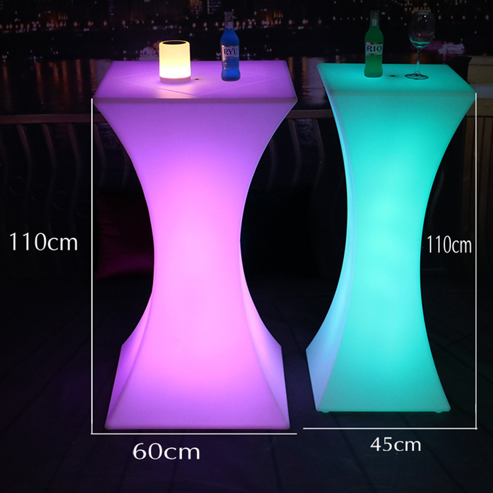 2019 New Rechargeable LED Cocktail Table Nightclub Bar Lighted Up Coffee Table Lighting Furniture Supplies