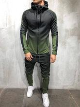 2 Pieces Sweatsuit Man Clothes Men's set Casual Hooded Sports Wear Zipper Tracksuit Training Hoodies Jacket Pants Track Suits 3d