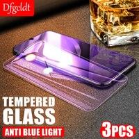 3Pcs Anti-Luz Azul de la cubierta completa Protector de pantalla para Samsung A50 A70 A90 A21s A12 S10e S20 FE F62 M62 M51 M31 M21 de vidrio templado