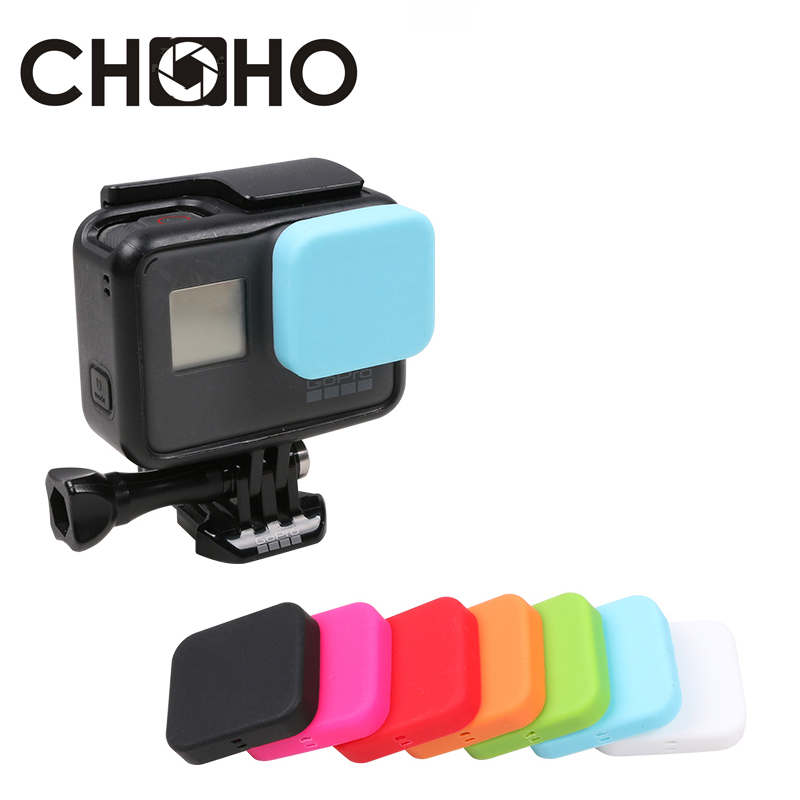 For Gopro 7 Black Accessories Protective Lens Cap Soft Cover Rubber Silicone Silica Ge Protector For Go Pro Hero 5 6 7 Black