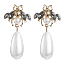 2019 Elegant Simulated Pearl Drop Dangle Earrings For Women Wedding Party Gift Fashion Vintage Earring Charm Jewelry