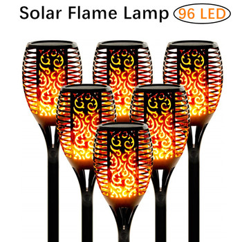 33/96 LED Solar Flame Lamp Outdoor Torch Lights Garden Light Waterproof Flicker Lights For Garden Decoration Automatic On Dusk