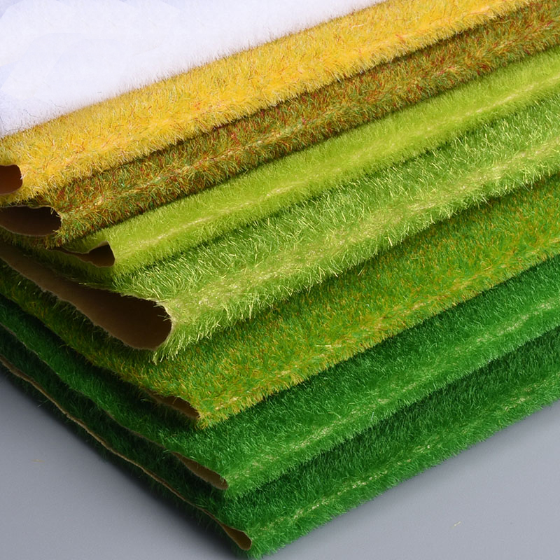 Landscape Grass Mat 25*25cm 35*50cm 35*100cm For Model Train Building Paper Scenery Layout Lawn Diorama Accessories