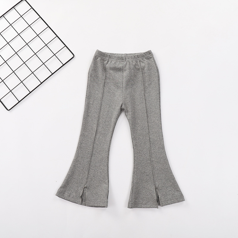 VIDMID Kids boot cut Pants Girls casual trousers Pants Children Pure Color Trousers Cotton clothing girls flare pants 4228 01 4