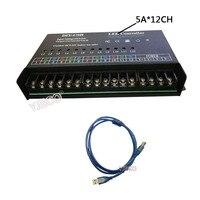 T 1000S DC5 24V DIY USB Control Dynamic Scanning LED Controller Full Color Display Controller, 5A/10Amper*12Chanel output