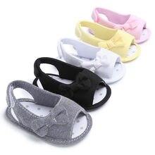 Toddler Infant Newborn Baby Girl Sandles Shoes Bow Sandal So