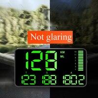 헤드 업 디스플레이 과속 알람 대형 스크린 고도 범용 마일리지 주행 거리계 자동차 시계 gps 속도계 선물 트럭 디지털|헤드업 디스플레이|자동차 및 오토바이 -