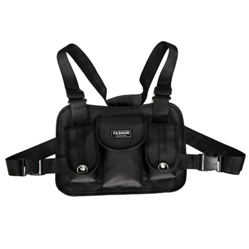 Fashion Chest Waist Bag Front Hip Hop Streetwear Chest Bag Cross Shoulder Bags