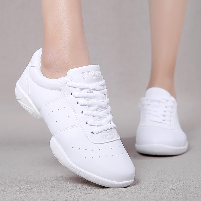 Non slip Girls Athletics Aerobics Shoes Children Fitness Training Cheerleading Gym Sneakers Women Soft Bottom Dance Sports Shoes