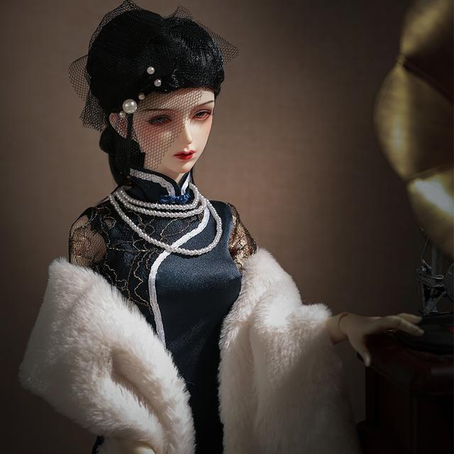 Shuga Fairy Hame Doll BJD 1/3 BJD Toys dolls fullset Chinoiserie Cheongsam Girl Gifts movable joint one piece dress