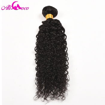 Ali Coco Hair Peruvian Curl Hair Bundles 1/3/ 4 PCS 100% Human Hair Weave Bundles Natural Color Non Remy Hair Extensions 1