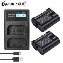 Batterie numérique rechargeable, EN-EL15 mAh, pour appareil photo Nikon en-el15a ENEL15 D500 D750 D7100 D7000