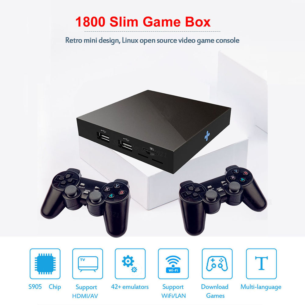 Emulator Fighting Box 3D 4K 64bit HD Mini Arcade Video Game Console Retro 1800 Game for Super Nintendo for N64 for PSP for PS1