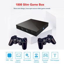 Emulador de caja de combate 3D 4K 64bit HD, miniconsola de videojuegos Arcade Retro 1800, para Super Nintendo N64, PSP, PS1