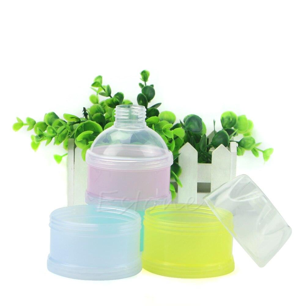 1Pc Portable 4 Layers Infant Baby Milk Powder Box Food Storage Container Travel 85WA