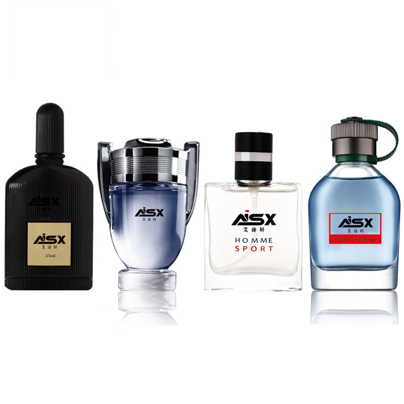 LANBENA 1Set 4Pcs Men Perfume Long Lasting Fragrance Mini Bottle Portable Parfum Brand Gentleman Lasting Spray Glass Bottle 2