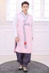 Importado de Corea del Sur Coreano ropa de tela/novio coreano ropa/ropa Coreana de los hombres/nuevo coreano ropa/ HE-NS1202