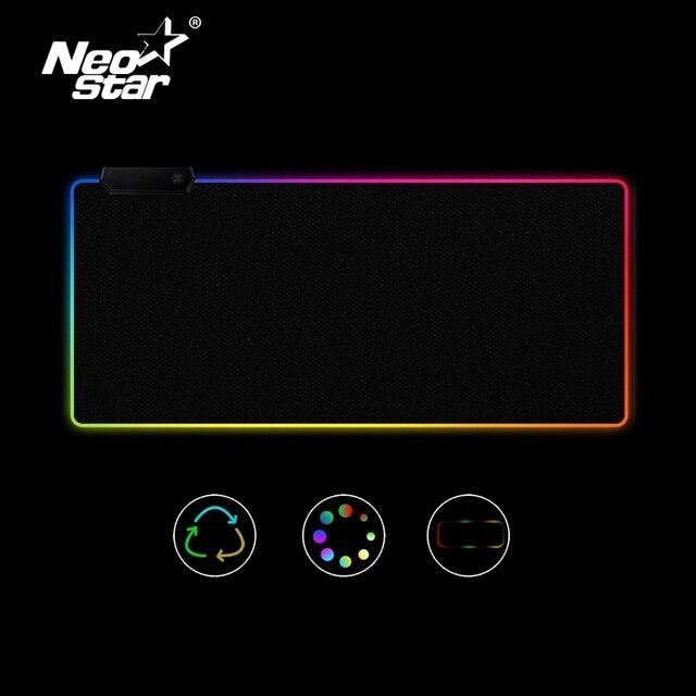 Rgb Led Muismat Grote Muismat Usb Verlichting Gaming Gamer Mousepad Toetsenbord Antislip Kleurrijke Lichtgevende Voor pc Muizen Mat