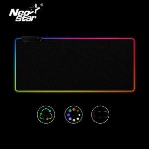 Image 1 - Tapis de souris antidérapant coloré avec éclairage filaire USB pour PC et PC, grand tapis de souris RGB LED pour clavier de jeu