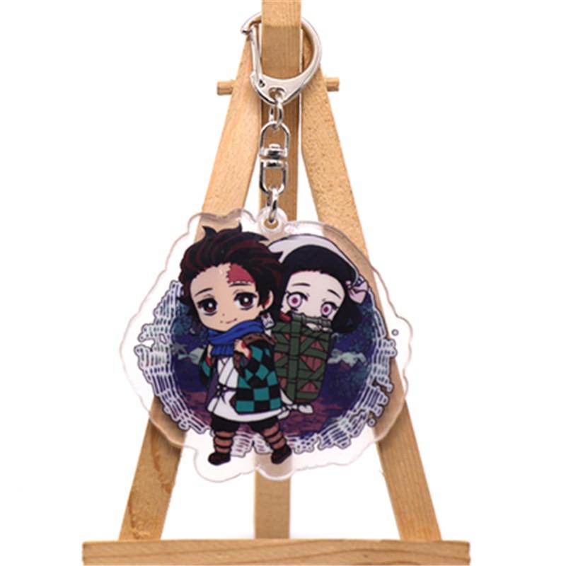 Аниме демон убийца Kimetsu no Yaiba Kamado Tanjirou косплей реквизит брелок Kamado Nezuko акрил прекрасная цепочка для ключа брелок - Цвет: style9