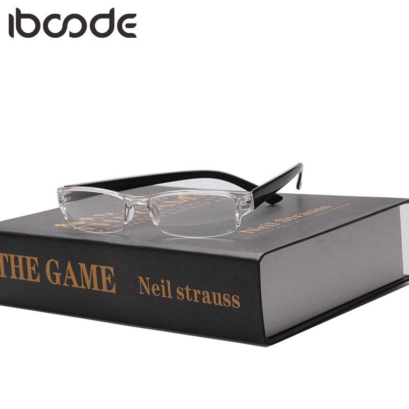 Iboode Fashion Transparent Square Glasses Clear Frame Women Spectacle Myopia Glasses Men Eyeglasses Frame Nerd Optical Frames