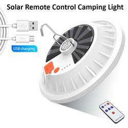 LED solaire ampoule économie d'énergie lumière Portable lampe suspendue pour Camping randonnée pêche éclairage de secours télécommande 60/120 Led