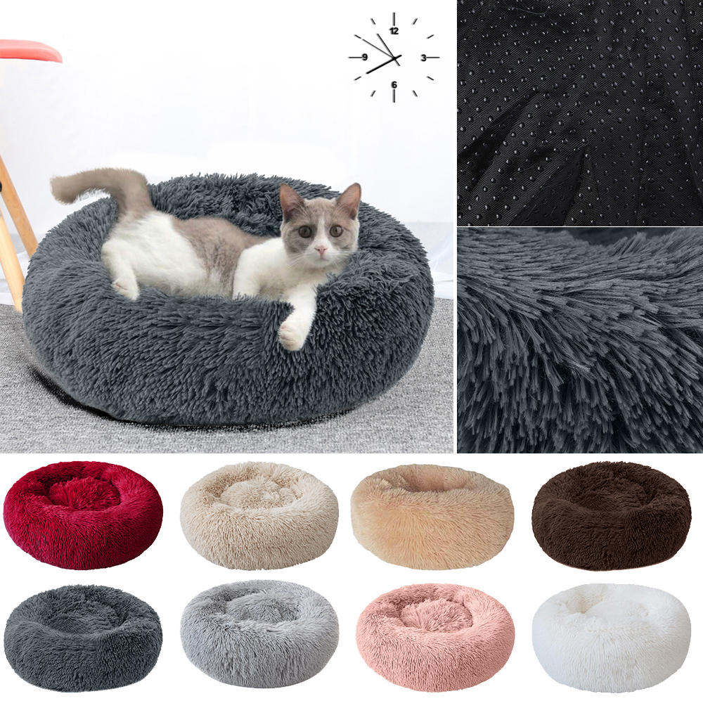 Soft Pet Dog Bed Comfortable Donut Cuddler Round Dog Kennel Ultra Soft Washable Dog And Cat Cushion Bed Winter Warm Sofa
