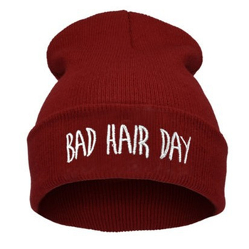 Fashion Skullies Beanies Woman Bad Hair Day Hats Winter Unisex Casual Male Cap Boy Hip Hop Embroidery Autumn Knitted Hat Female lovingsha fashion brand autumn winter hats for women hip hop letter design ladies hat skullies and beanies men hat unisex ht027