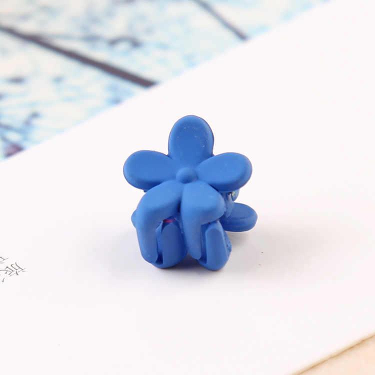 Корейская модная Заколка-цветок для девочек, мини-заколка для волос с цветком, радужная цветная пластиковая мини-заколка в форме цветка