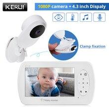 KERUI 4.3 inch Wireless Color Baby Monitor 1080P HD Audio Video Baby Camera Temperature Monitor Security Camera IR Night Vision