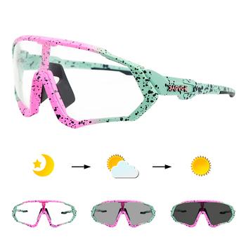 MTB okulary rowerowe okulary rowerowe sport TR90 drogowe okulary rowerowe mężczyźni kobiety okulary rowerowe okulary rowerowe fotochromowe 1 soczewki tanie i dobre opinie kapvoe CN (pochodzenie) UV400+ photochromic + polarized lenses 55mm cycling glasse MULTI 136mm Z poliwęglanu Unisex TR-90