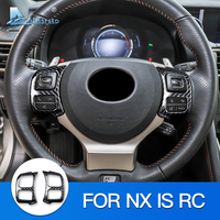 AIRSPEED for LEXUS NX IS RC Accessories for LEXUS NX IS RC Hard Carbon Fiber Stickers Trim Steering Wheel Button Frame Cover