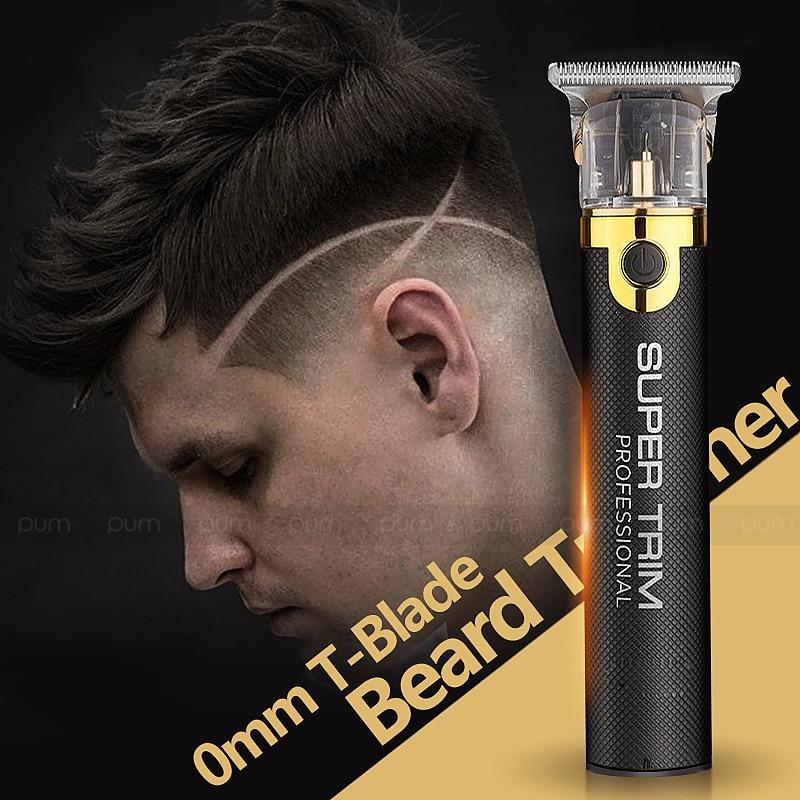 Professional Hair Clipper Beard Trimmer For Men Barber 0.1mm Baldhead Clippers Hair Cutting Machine Hair Cut T Blade Trimmer