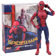SHF Homem Aranha do Regresso A Casa Do Spiderman PVC Action Figure Collectible Modelo Toy 14cm(China)
