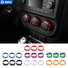 Mopai Interieur Mouldings Voor Jeep Wrangler/Compass/Patriot Auto Airconditioning Schakelaar Knop Knop Decoratie Cover Accessoires(China)