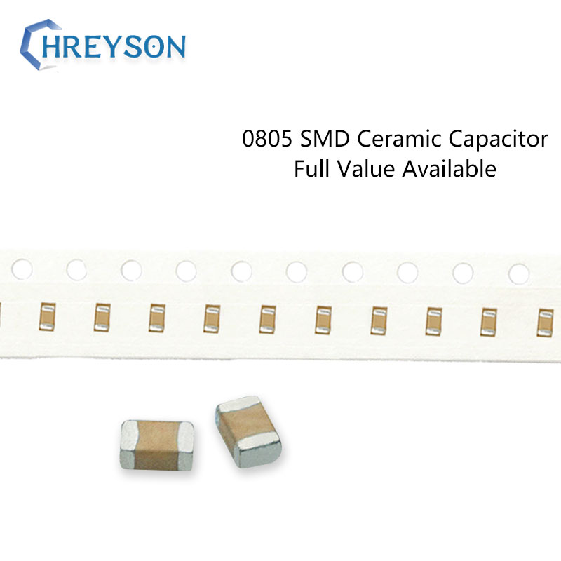 100 Uds 0805 SMD condensador electrónica 5%, 10%, 20%, 2012 22pF 27pF 33nF 6,3 V 16V 25V 50V 222K 105K completa valor disponible Kit de bricolaje