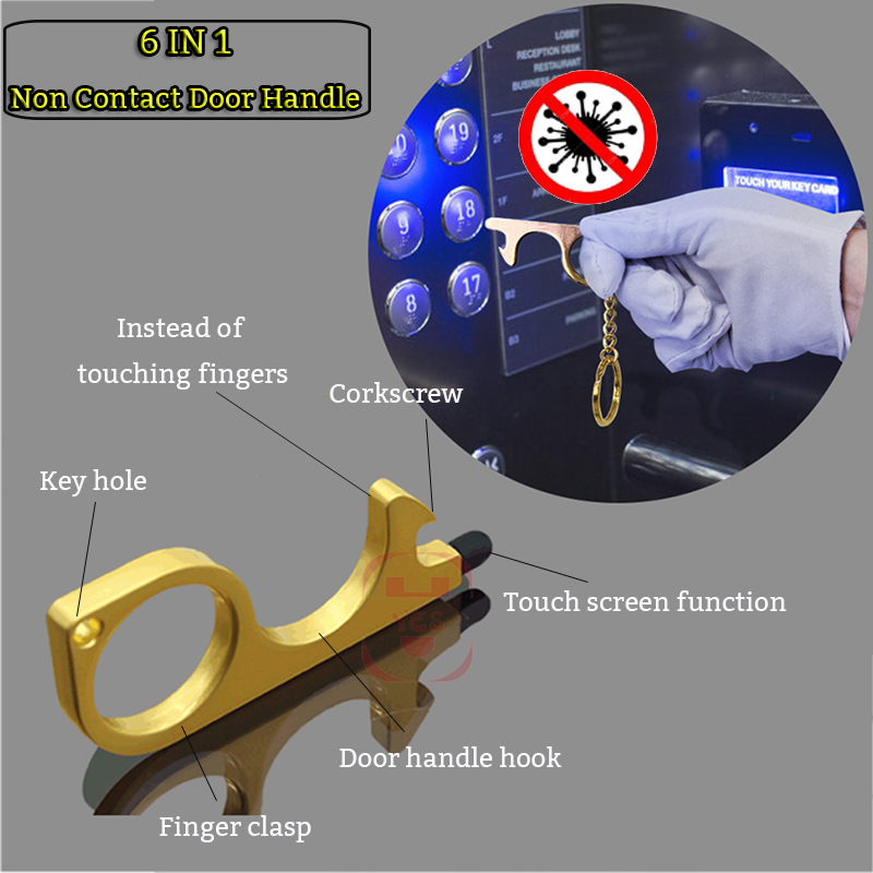 Hygiene Antimicrobial Elevator Button Contactless Tool Safety Door Handle Isolation No-Touch Anti-bacteria Opener Touch Screen