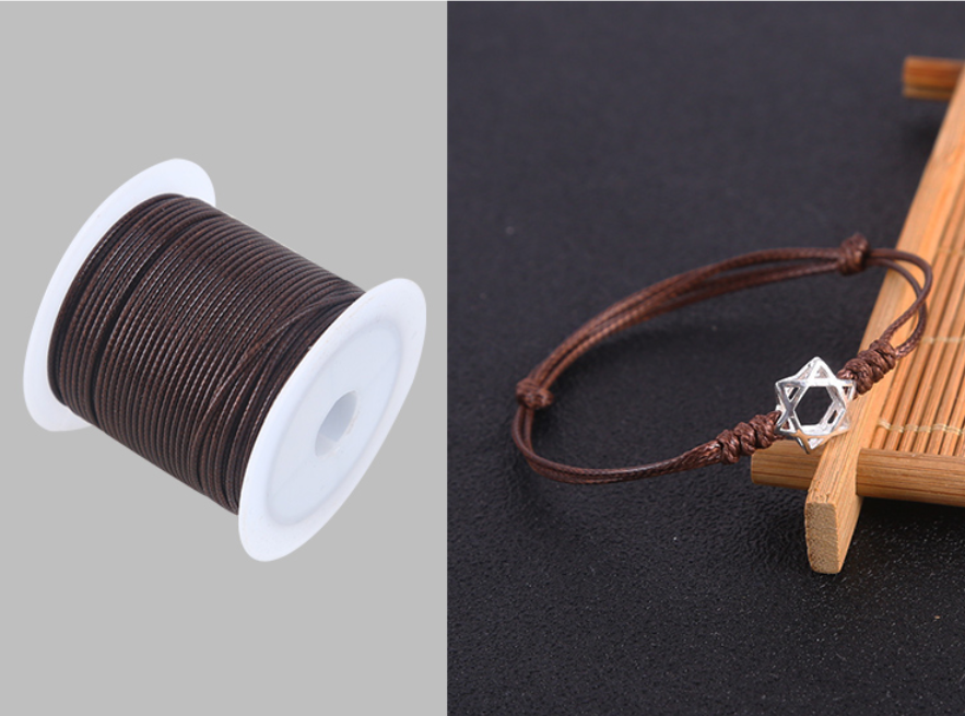 0.5/0.8/1.0/1.5/2.0mm Waxed Cotton Cord Waxed Thread Cord String Strap Necklace Rope For Jewelry Making For Shamballa Bracelet 3