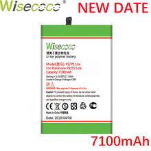 цена на Wisecoco P2 Lite 7100mAh Newly Produced Battery For Blackview P2 / P2 Lite High Quality Phone Battery Replace + Tracking Number