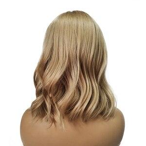 Image 2 - ALAN EATON Medium Bobo Cosplay Blonde Wigs with Bangs Woman Synthetic Hair Wigs Wavy Cute Lolita Cosplay Female Daily False Hair