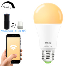 15W Smart Bulb WIFI Dimmable Light LED E27 White/Warm  Amazon Alexa Google Home IOS/Android app Control Lamp