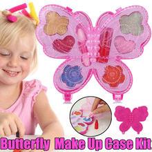 Портативная моющаяся игрушка для макияжа в виде бабочки девочек