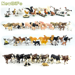 Image 3 - 44 types horse collection 68 types farm animals series Chicken duck goose swan pig dog cat cow sheep model toys children gift