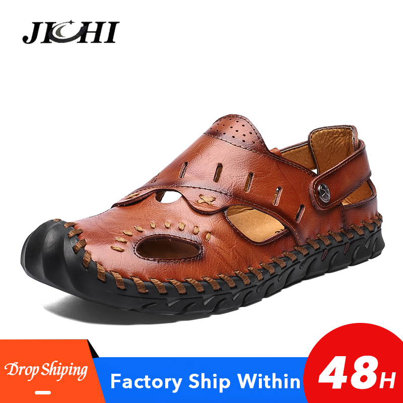 High Sales Men Shoes Covered Toes Comfortable Casual Beach Sandals Breathable Summer Sandals Men Plus Size Waterproof New