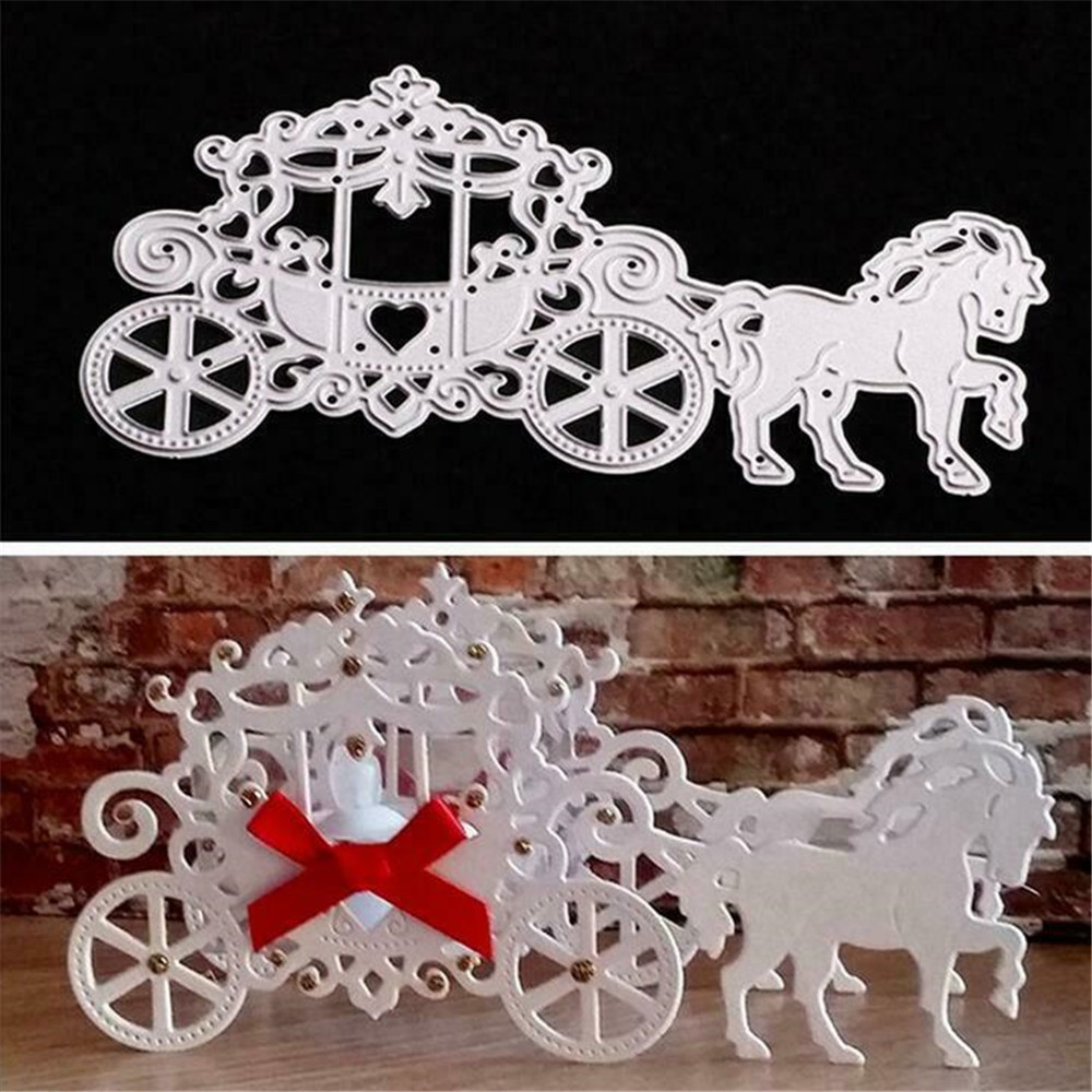 Metal Craft Princess Carriage Metal Cutting Dies Stencils Scrapbooking Photo Album DIY Decorative Craft Die Cut Scrapbooking Die