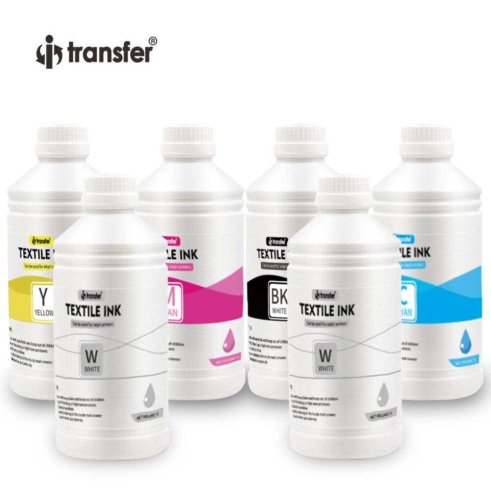 6 Litre DTF Textiles Pigment Ink CMYK Color  DTF Ink 1L White Ink for DTF Printer 1000ml T shirt Printing Inks