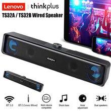 Lenovo TS32 Dual Verbindung Modi USB Powered Lautsprecher BT5.0/Audio Kabel Lautsprecher 360 ° Stereo Klang Wired Hause Lautsprecher