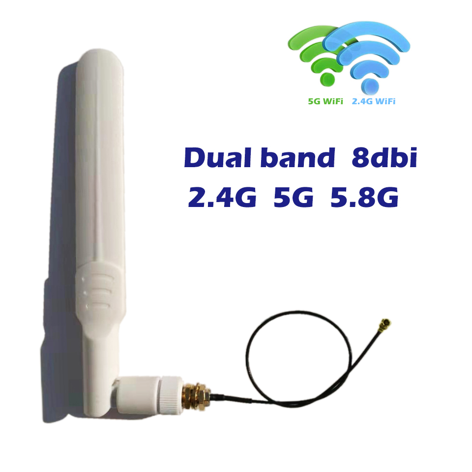 8dbi Wifi Sma Antenna 2 4ghz 5ghz 5 8ghz Dual Band 20cm U Fl Ipex Tosma Pigtail Cable For Mini Pcie Card Wireless Repeater Fpv Communications Antennas Aliexpress